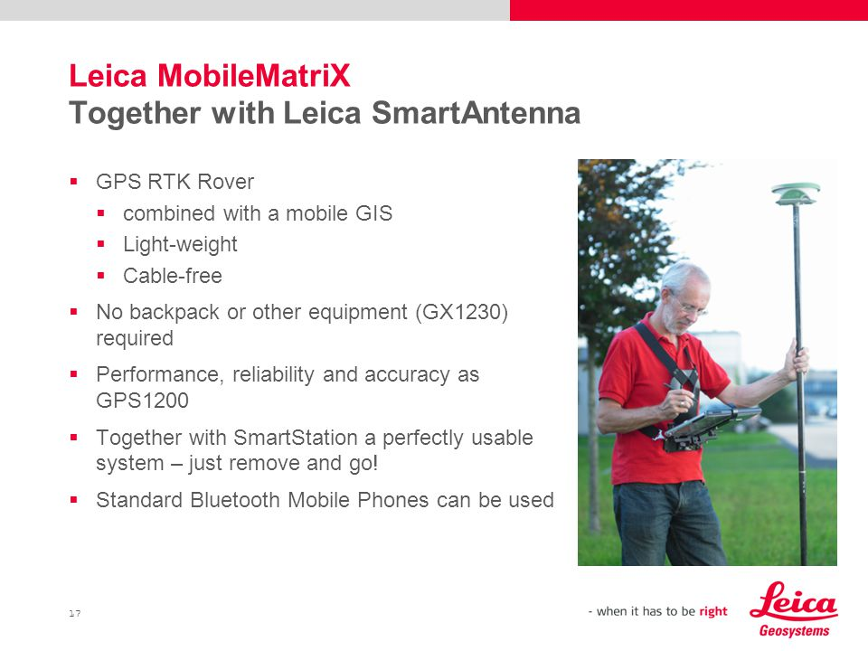 Leica MobileMatriX Together with Leica SmartAntenna