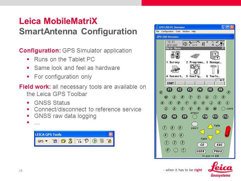 Leica MobileMatriX SmartAntenna Configuration