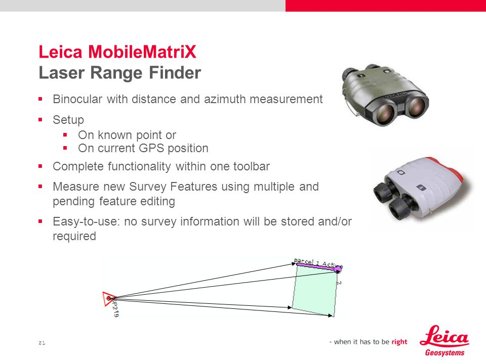 Leica MobileMatriX Laser Range Finder