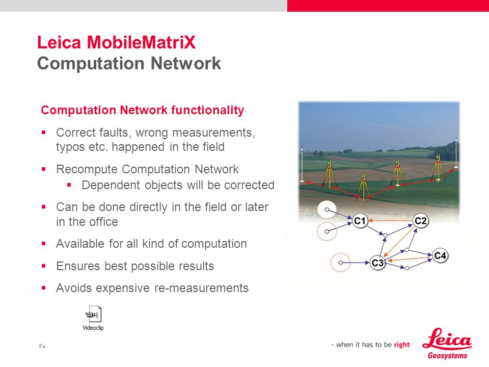 Leica MobileMatriX Computation Network