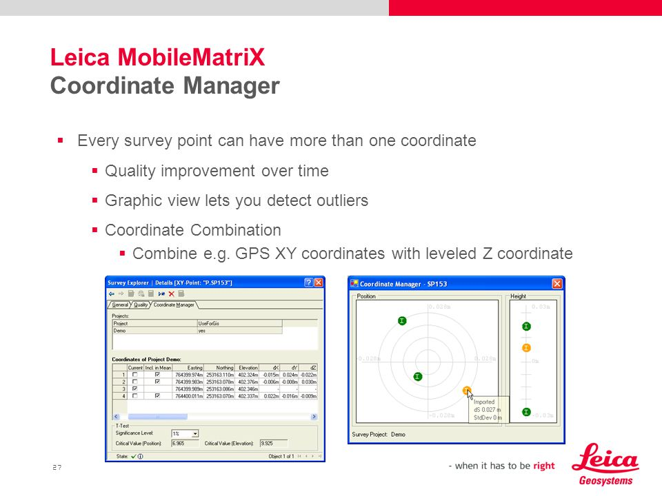 Leica MobileMatriX Coordinate Manager