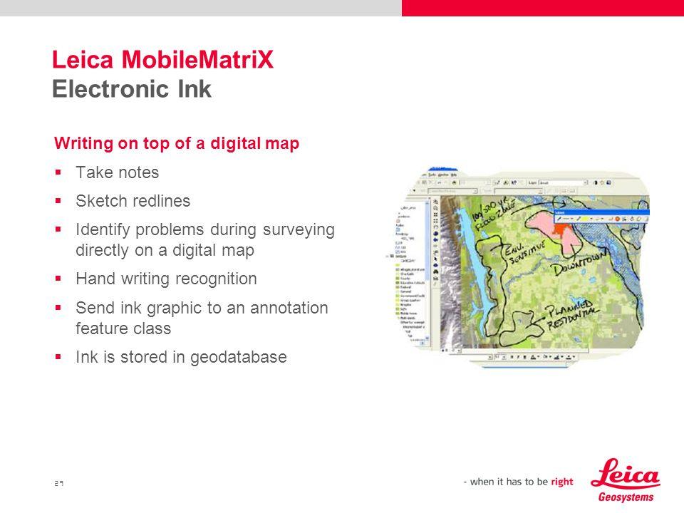 Leica MobileMatriX Electronic Ink