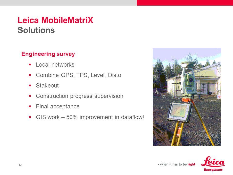 Leica MobileMatriX Solutions