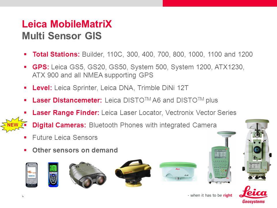 Leica MobileMatriX Multi Sensor GIS