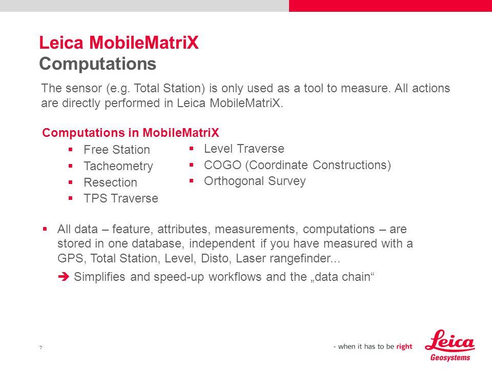 Leica MobileMatriX Computations
