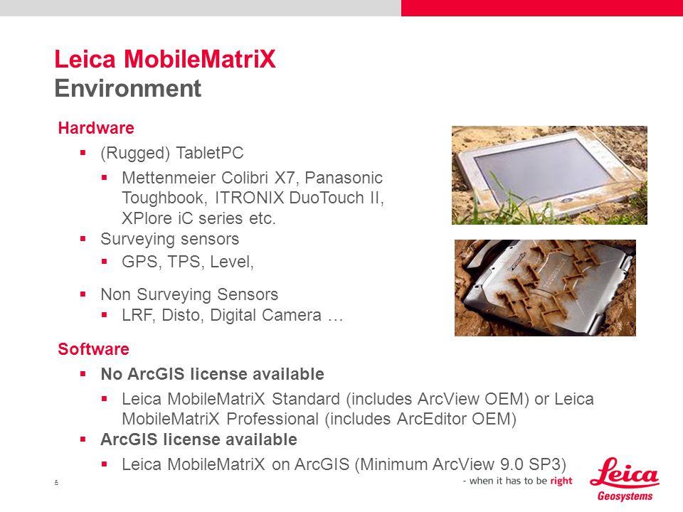 Leica MobileMatriX Environment