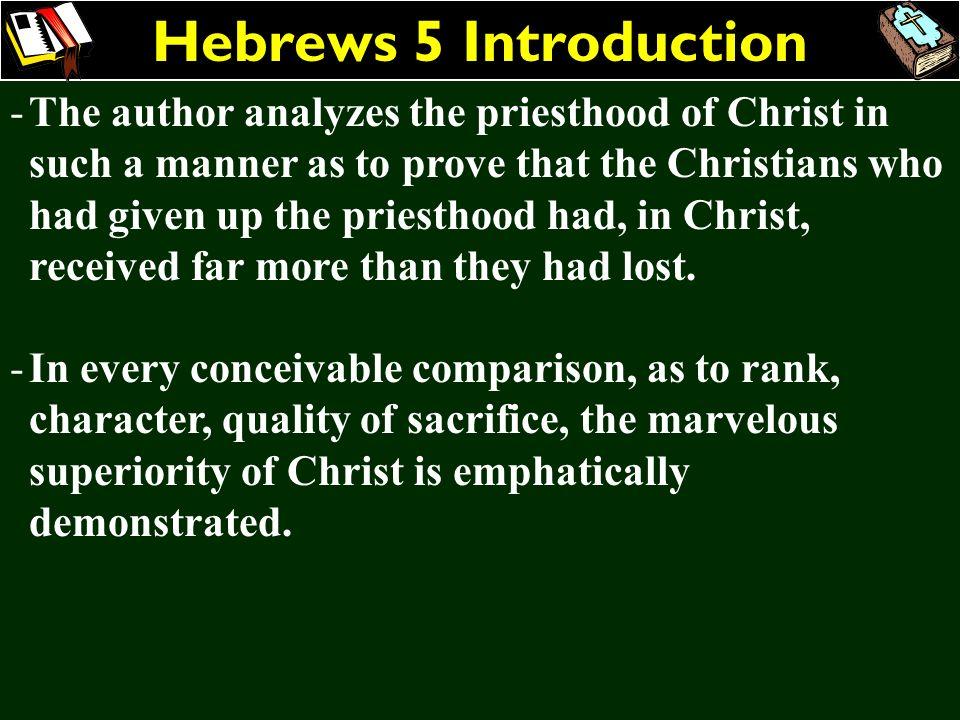 Hebrews 5 Introduction