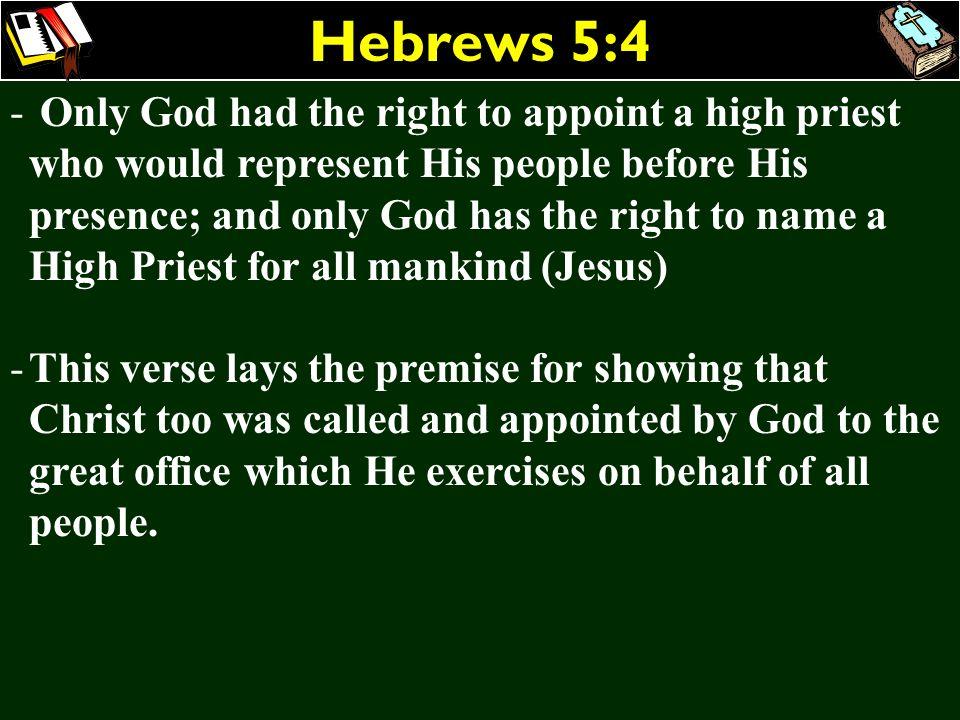 Hebrews 5:4