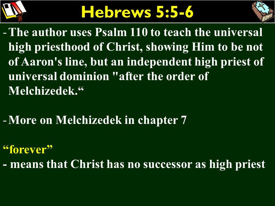 Hebrews 5:5-6