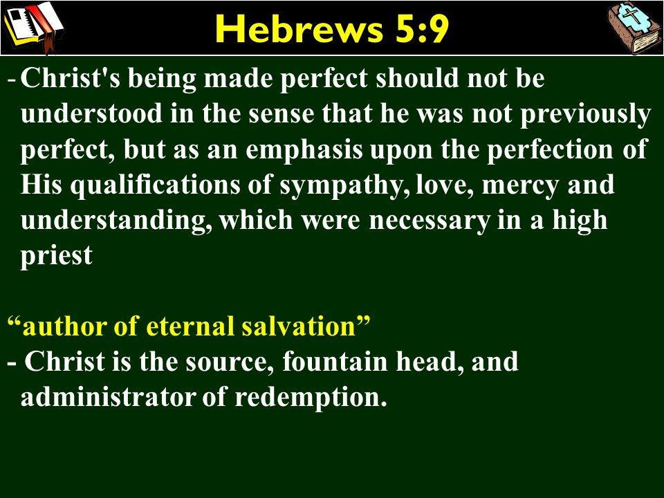 Hebrews 5:9
