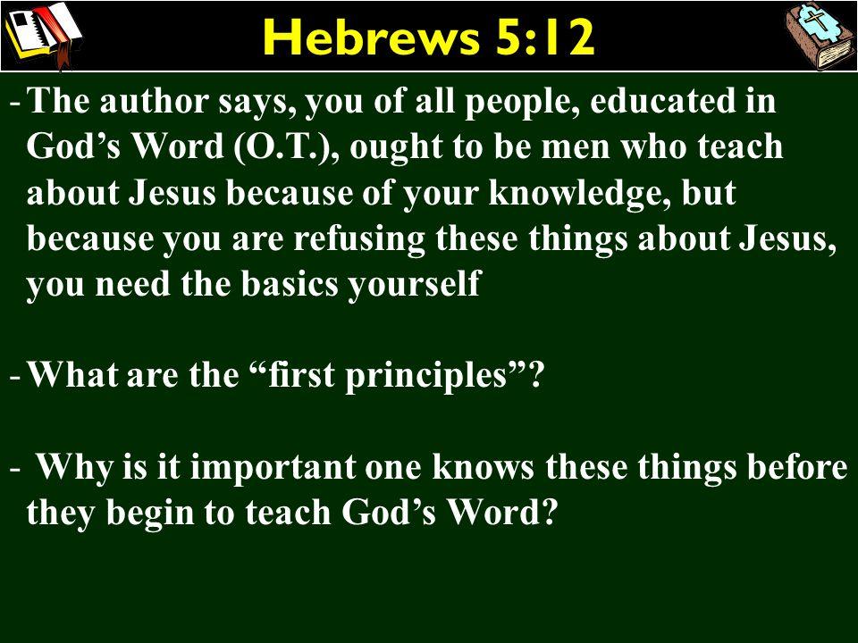 Hebrews 5:12