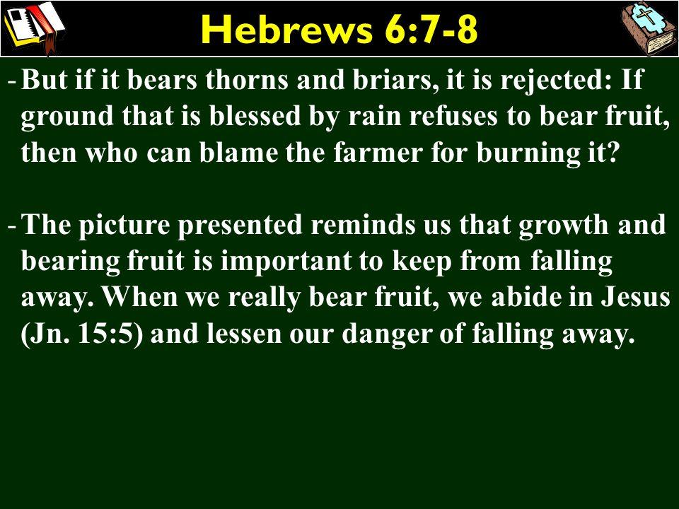 Hebrews 6:7-8
