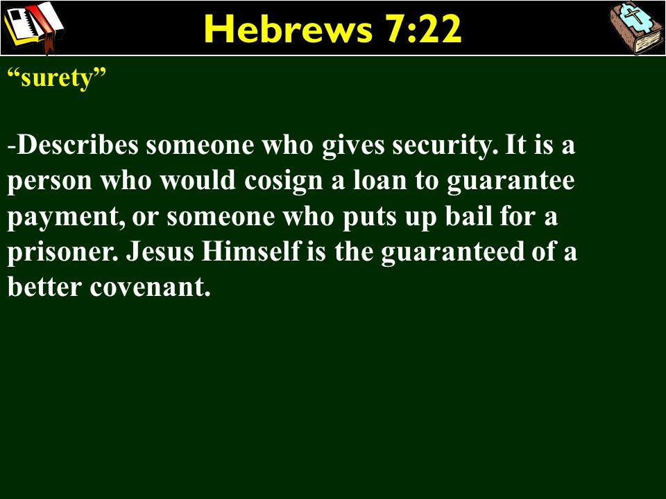 Hebrews 7:22 surety