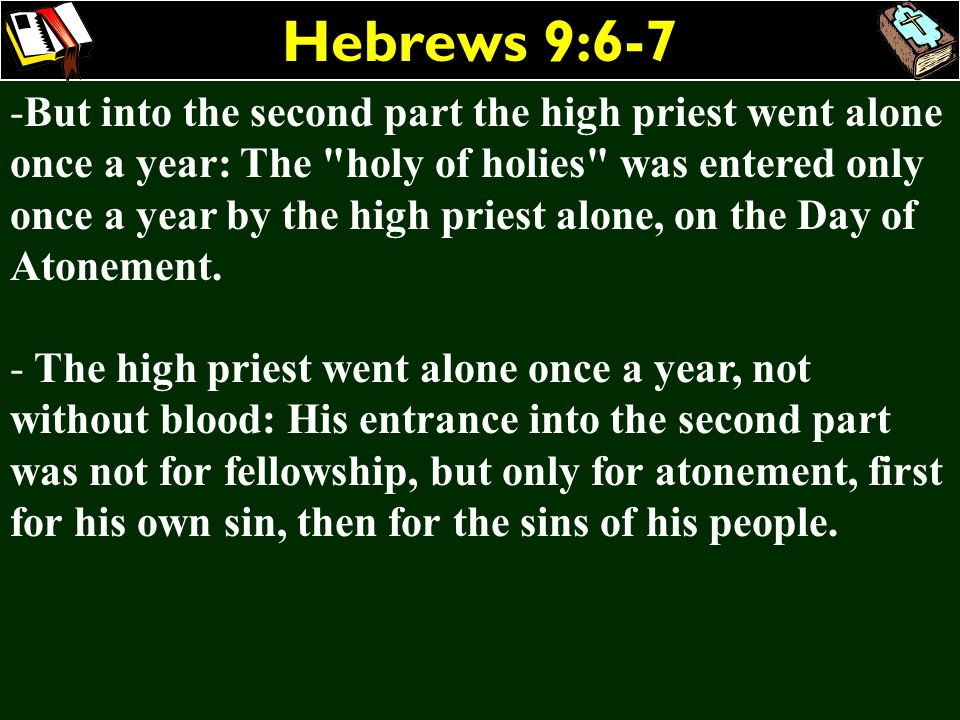 Hebrews 9:6-7