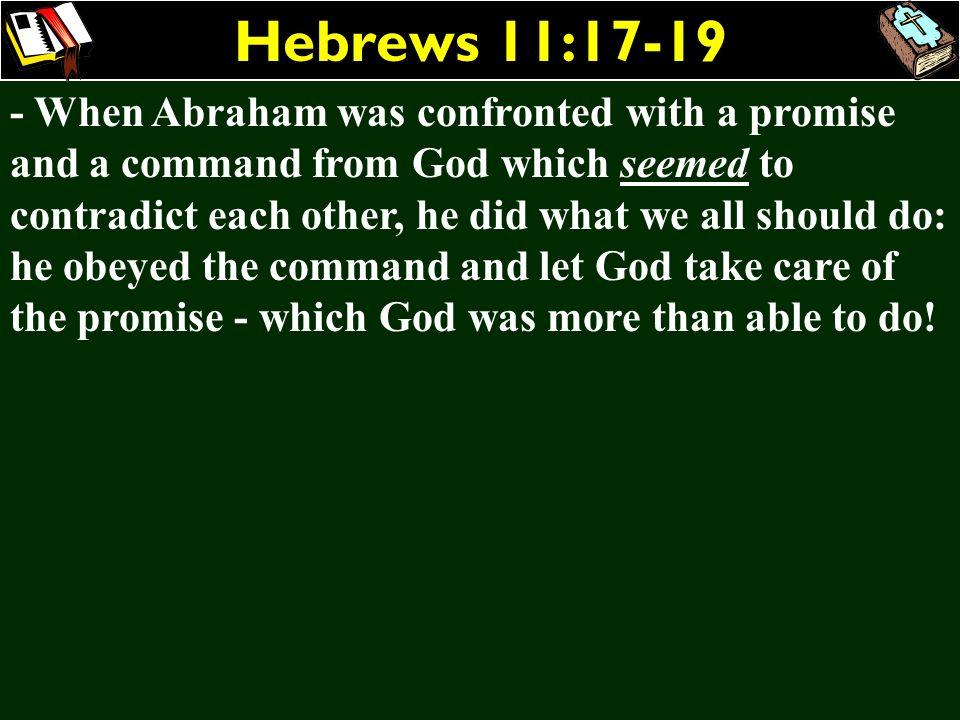Hebrews 11:17-19