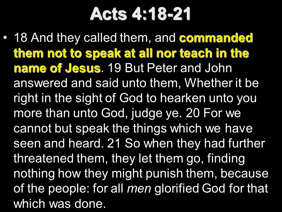 Acts 4:18-21