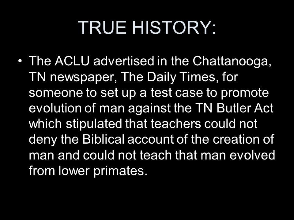 TRUE HISTORY: