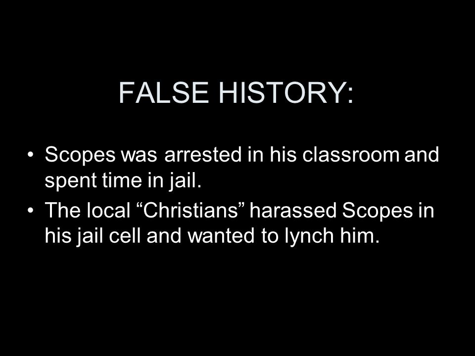 FALSE HISTORY: Scopes was arrested in his classroom and spent time in jail.