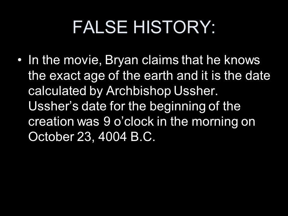 FALSE HISTORY: