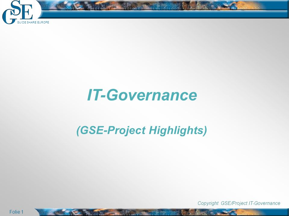 (GSE-Project Highlights)