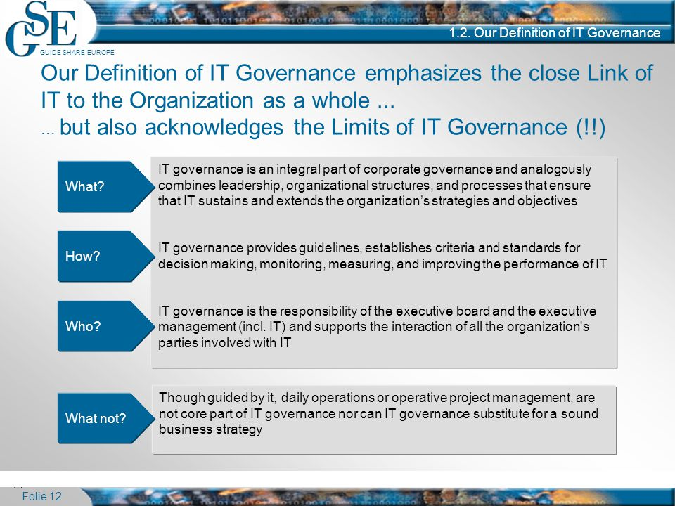 1.2. Our Definition of IT Governance