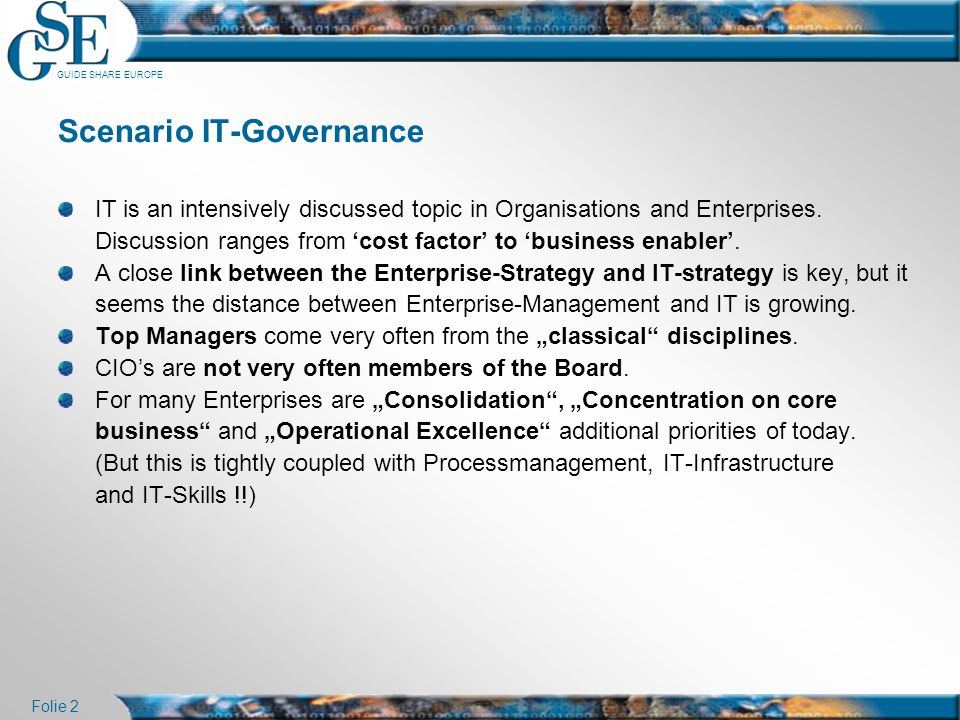 Scenario IT-Governance