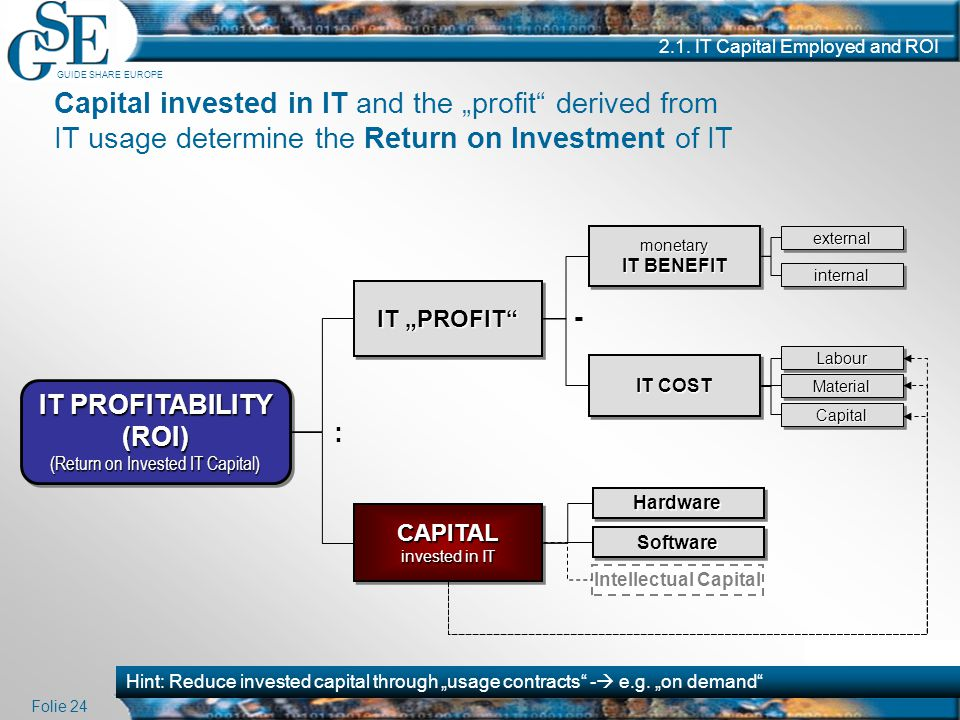 IT PROFITABILITY (ROI)