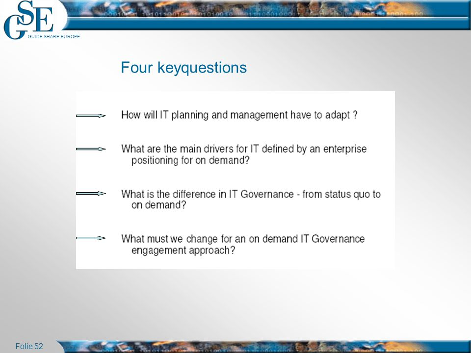Four keyquestions