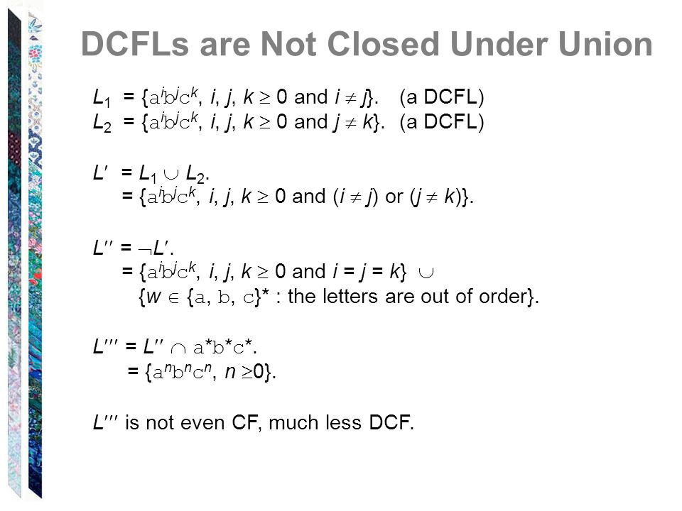 DCFLs are Not Closed Under Union