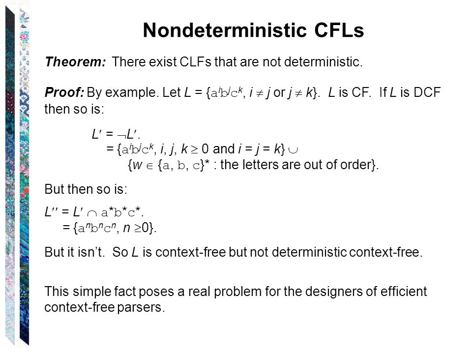 Nondeterministic CFLs