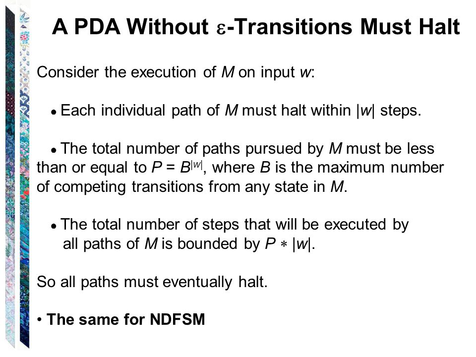 A PDA Without -Transitions Must Halt
