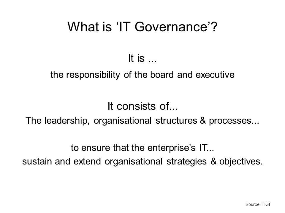 What is 'IT Governance'