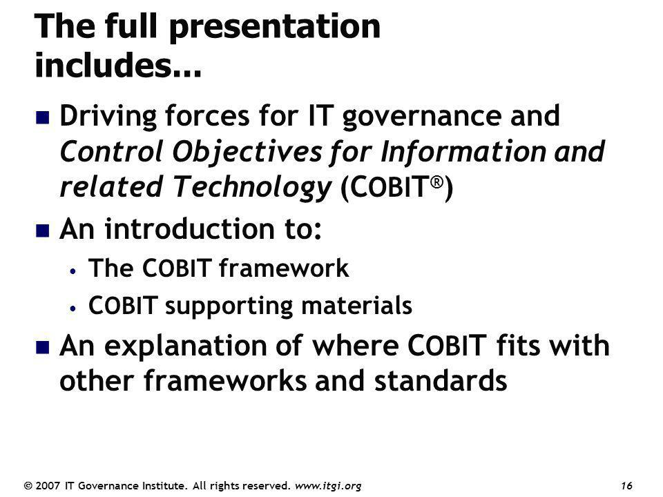 The full presentation includes...