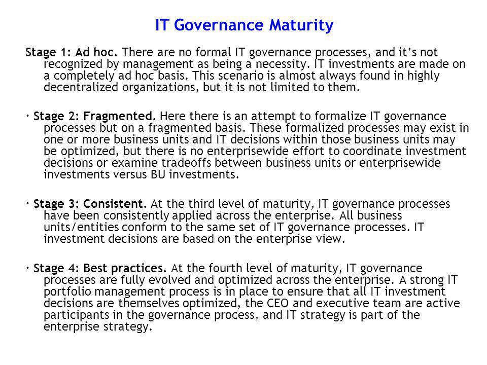 IT Governance Maturity
