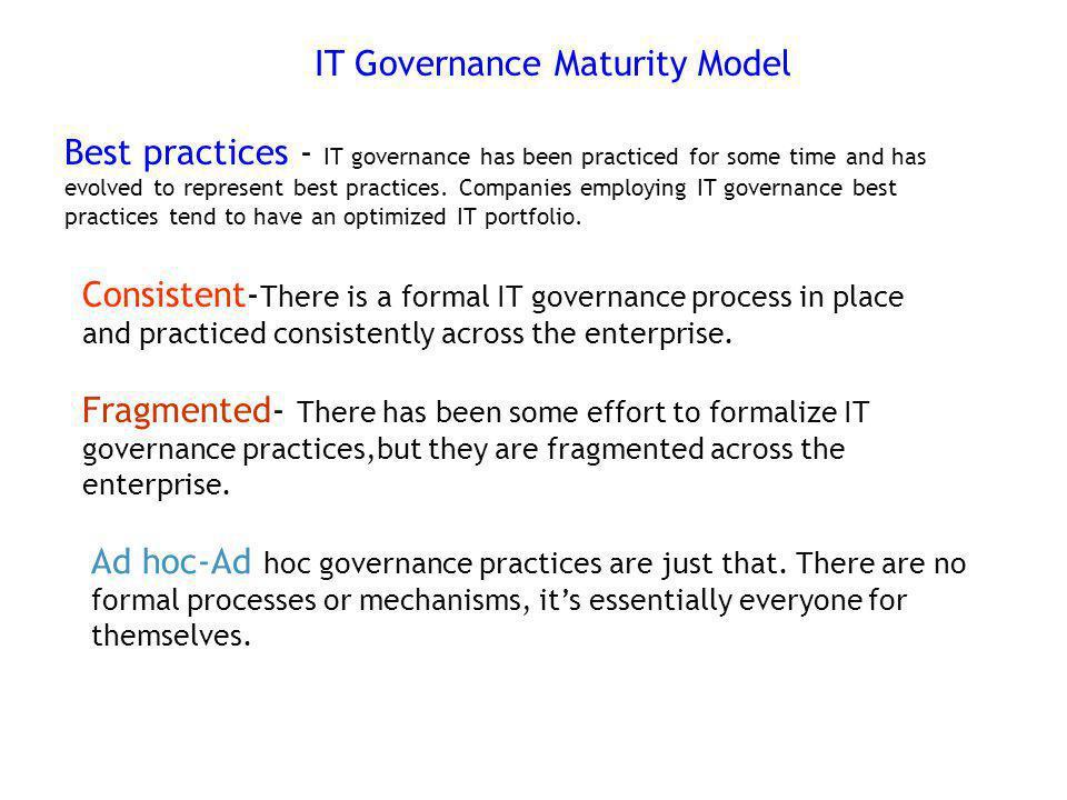 IT Governance Maturity Model