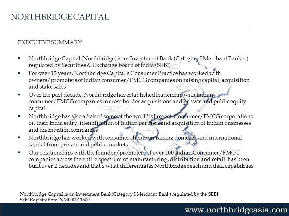 NORTHBRIDGE CAPITAL EXECUTIVE SUMMARY