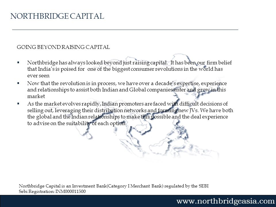 NORTHBRIDGE CAPITAL GOING BEYOND RAISING CAPITAL