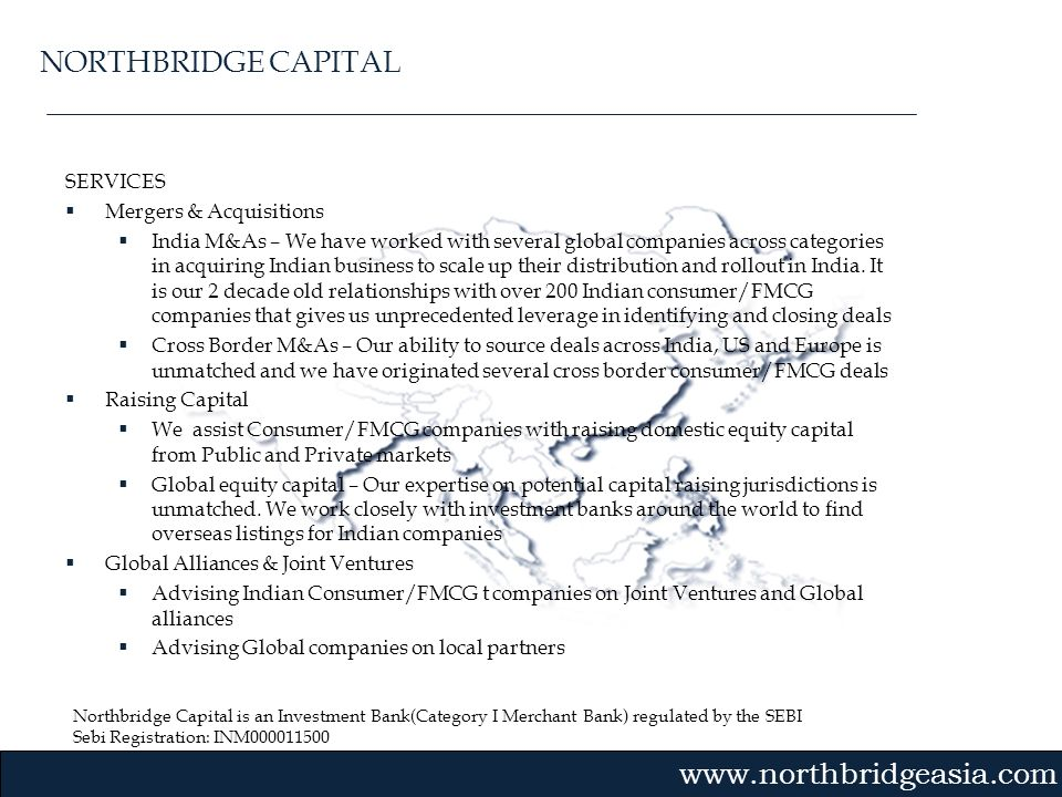NORTHBRIDGE CAPITAL SERVICES Mergers & Acquisitions