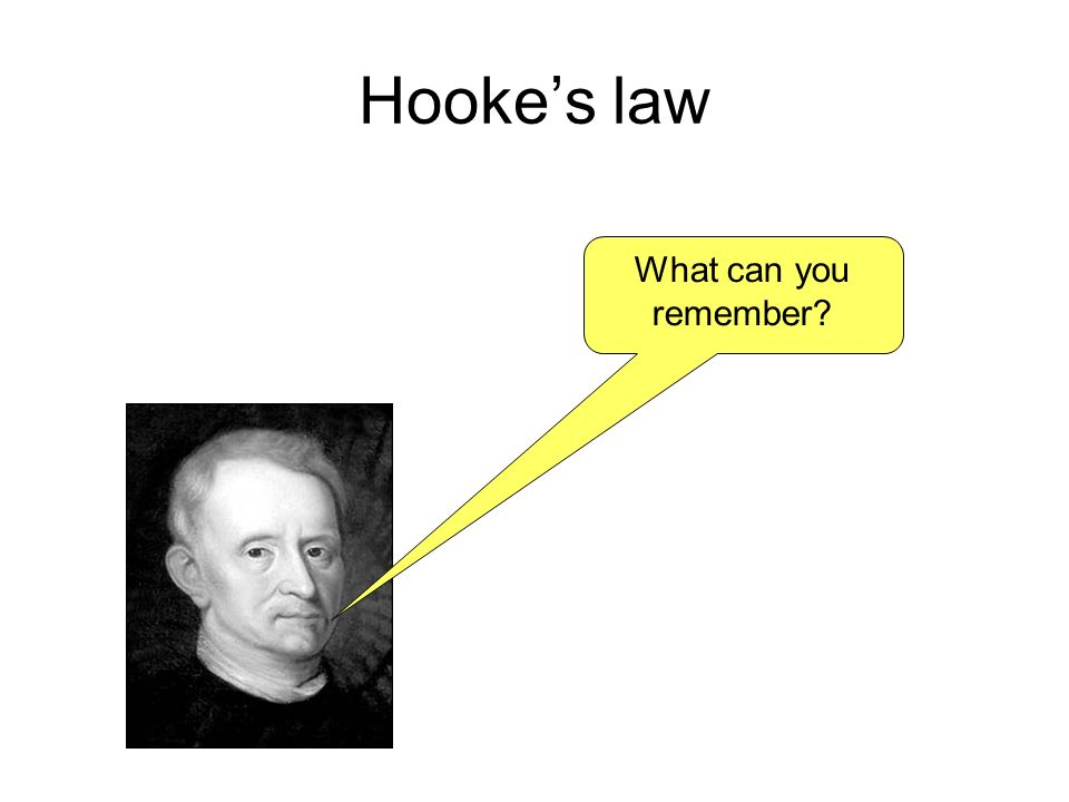 Hooke's law What can you remember