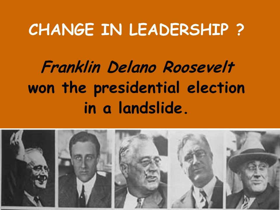 Franklin Delano Roosevelt won the presidential election