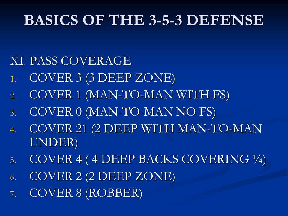 BASICS OF THE 3-5-3 DEFENSE