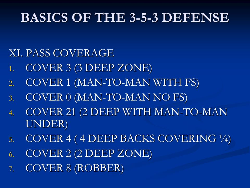 BASICS OF THE DEFENSE