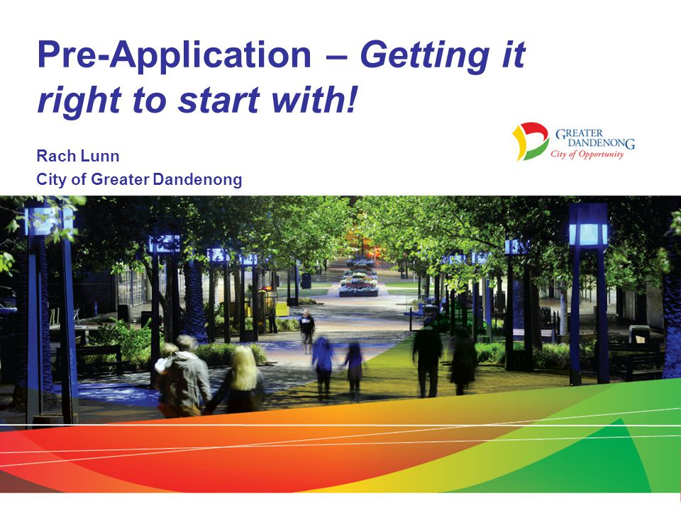 Pre-Application – Getting it right to start with!