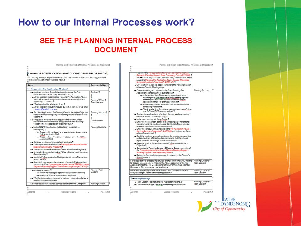 How to our Internal Processes work