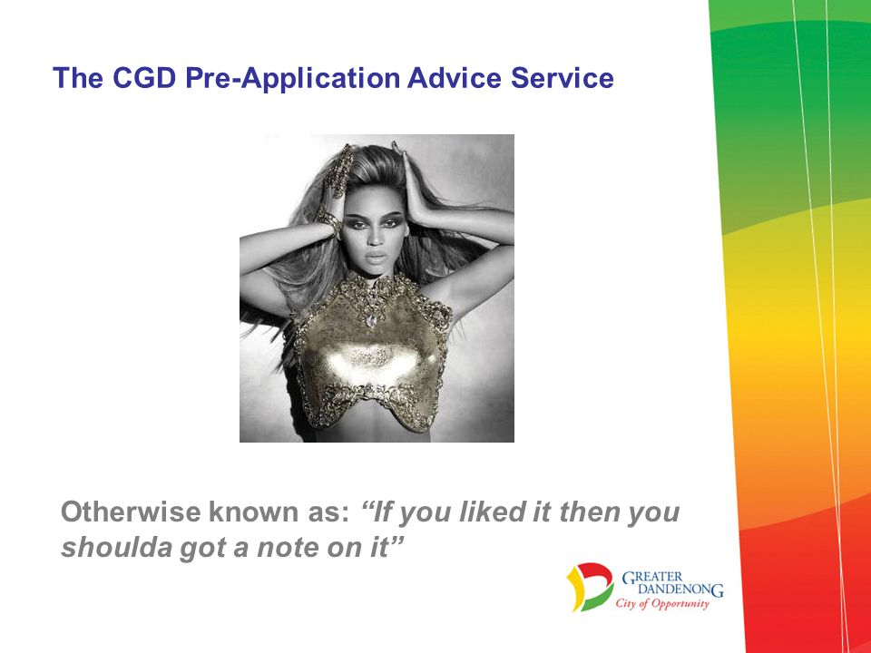 The CGD Pre-Application Advice Service