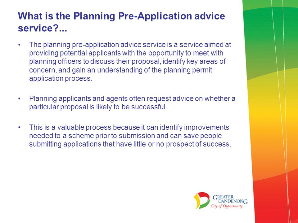 What is the Planning Pre-Application advice service ...