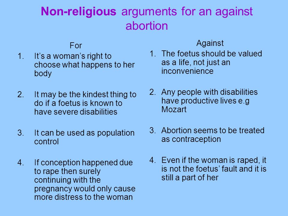 Abortion argument essay introduction