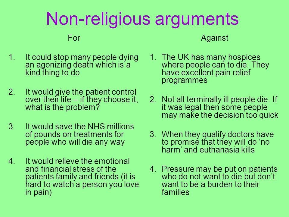 Non-religious arguments