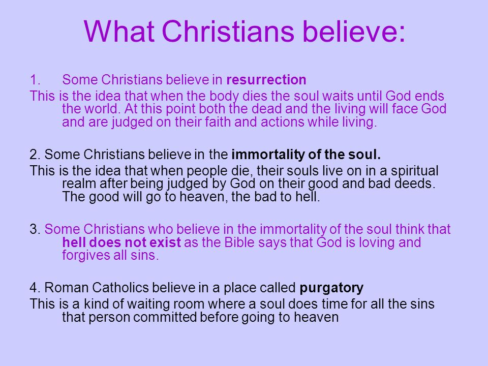 What Christians believe: