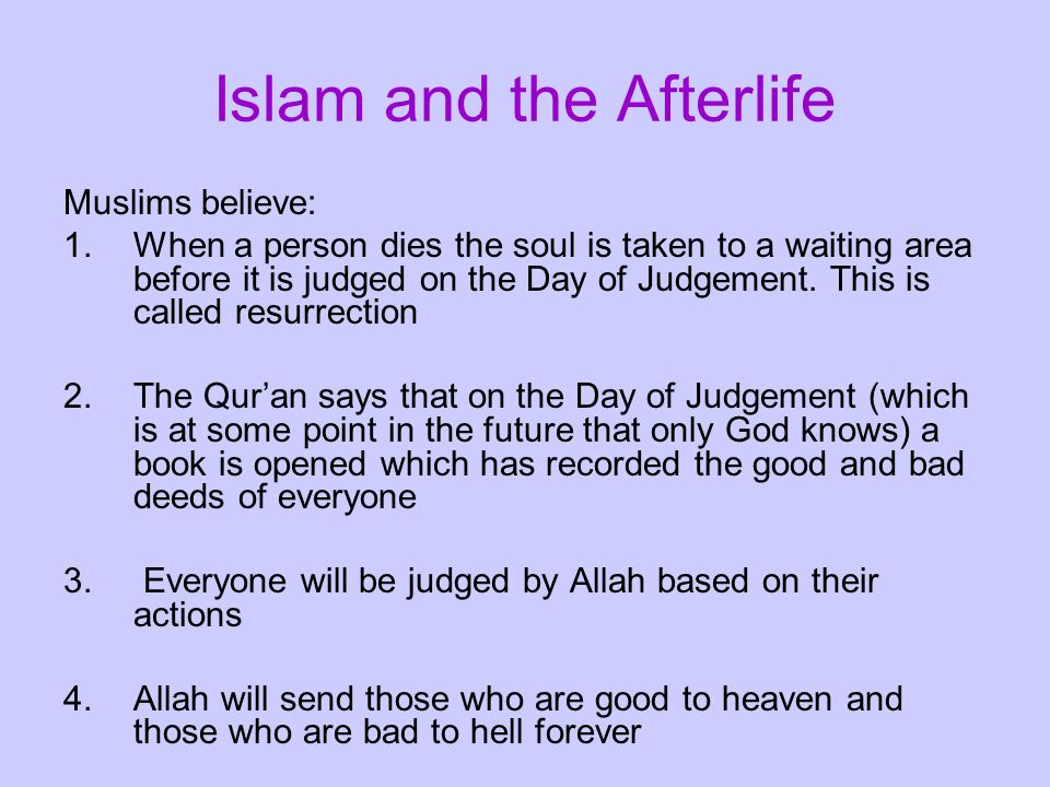 Islam and the Afterlife